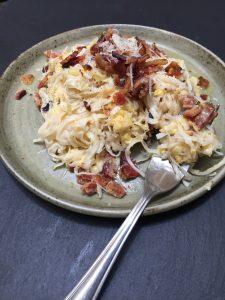 Healthy Noodle Carbonara
